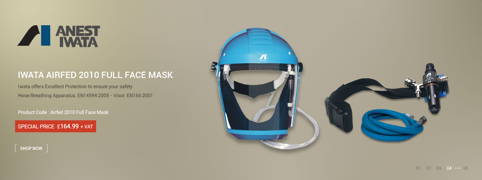 03 Iwata Airfed 2010 Full Face Mask